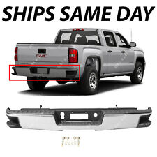 NEW Chrome - Rear Bumper Assembly for 2014-2018 Chevy Silverado GMC Sierra 1500