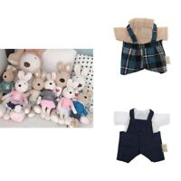 Casual Top & Short Suspender Pants Clothes for 1/6 BJD Doll Puppet Bear Kits