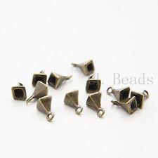 12pcs Antique Brass Tone Base Metal Charm -Pyramid 11x6mm (26519Y-T-216)