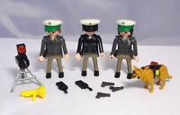 PLAYMOBIL Polizei Police Hundestaffel Verkehrskontrolle Radargerät Pistolen #1