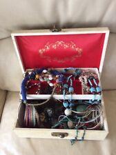 Vintage Jewellery Box With A Job Lot Of Vintage Jewellery