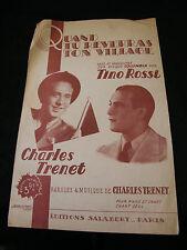 Partition Quand tu reverras ton village Charles Trénet Tino Rossi
