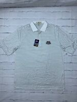 NEW Fairway Greene Men's Golf Shirt L US Open Pebble Beach Striped Collared Polo