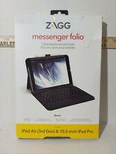 Zagg Messenger Folio Ipad Air 3rd Gen. and 10.5 inch Ipad Pro w/ Keyboard