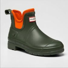 NEW Hunter For Target Womens Sz 8 Ankle Boots Bootie Rubber Wellies Green Orange