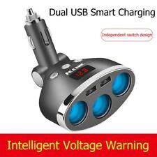 Splitter per presa accendisigari per auto 12-24V Dual USB Charger Power Adapter