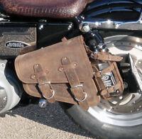 Harley-Davidson SPORTSTER cuir marron gauche coté simple Solo sacoche