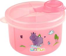 Lait en Poudre - Scoop avec 3 Compartiments Doseur Hippo Rose