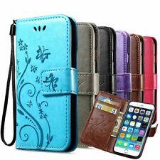 Handy Tasche für Samsung Galaxy Schutz Hülle Blumen Flip Cover Mobile Case Etui