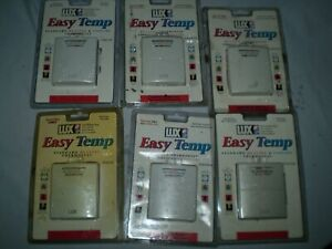lot of 6 Lux  Easy Temp  T101141SA Mechanical Heating Thermostat  New Sealed
