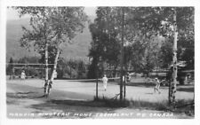 1940s Quebec Canada Tennis Sports RPPC real photo postcard 12184