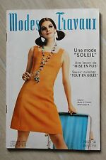 MODES ET TRAVAUX N°799 1967 mode fashion couture tricot pages poupées PATRON