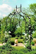 Metal Garden Arch Gothic Arbor Climbing Rose Plants Outdoor Archway Trellis 8 Ft