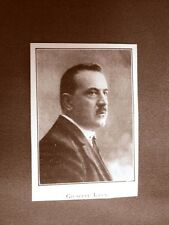 Stampa del 1923 Giuseppe Lana Collaboratore dell'Illustrazione Italiana