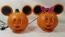 Disney Mickey and Minnie Mouse Light Up Pumpkin Blow Mold Halloween Set