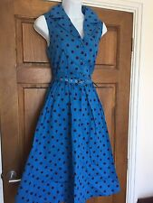 Turquoise swing dress 40s 50s Pin up Vintage Retro Rockabilly 12 Matilda BNWT