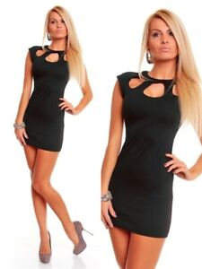 NEW DRESS BUSINESS PENCIL CLUBBING PARTY COCKTAIL MINI OFFICE CASUAL - Black