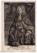 Georg II. August, König von Großbritannien-Portrait-Kupferstich 1730