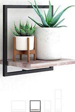 Wall Mount Shelf Floating Shelves Square For Bathroom, Kitchen Wood Rustic