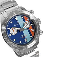 Oceaneva™ Men's WaveRacer™ 500M Pro Diver Blue Dial Racing Chronograph Watch