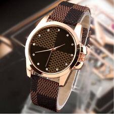 Damen Frauen Casual Leder Gurt Quarz Uhren Armbanduhr Neu  Pop