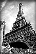 Eiffel Tower Black and White Canvas Print Painting