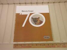 1970 Mercury Cougar, XR-7, Eliminator Car Sales Brochure CDN