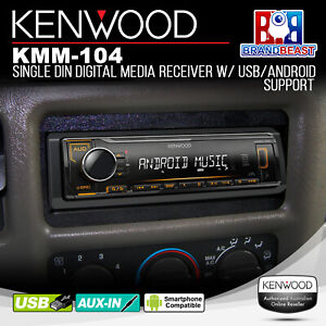 KENWOOD KMM-104 Single Din Digital Media Receiver with USB/Android Support