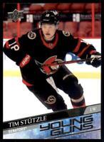 2020-21 UD Series 2 Base Young Guns #482 Tim Stutzle RC - Ottawa Senators
