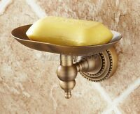 Bathroom Accessory Antique Brass Wall Mounted Wire Soap Dish Holder qba081