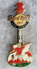 HARD ROCK CAFE LAS VEGAS SOCCER PLAYER GUITAR WITH DENMARK FLAG PIN # 54651