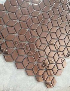 Diamond Aluminium Ceramic Mosaic Tiles | 1 sheet300 x300 x 8mm | 11=1m2