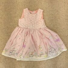 Next Girls Dress 18-24 Months Party Rabbit Bike Hedgehog Pink 1.5-2 Years