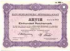 Klein Michel Motor - Bau AG 1926   Hamburg