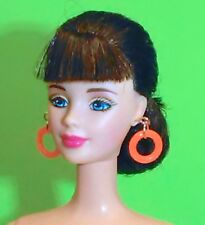 Barbie Dreamz NEON ORANGE MOD HOOPS Hoop Earrings Doll Jewelry