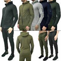 Mens Slim Fit Skinny Designer Top Bottom Hoodie Joggers Trouser Tracksuit set