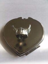 Viking Helmet TG321A Fine English Pewter on Heart Shape Compact Mirror