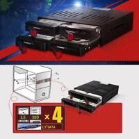 4X 2.5 inch Enclosure SATA Hard Drive HDD SSD Mobile Rack Bay Tray Station Dock