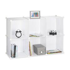 Relaxdays Étagère Rangement 6 casiers Plastique modulable DIY assemblage Plug...