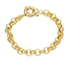 "SALE 9ct 9K YELLOW  "" Gold Filled "" Men Lady 7mm Belcher Bracelet 7"" - 9"" b323YG"
