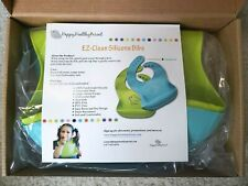 [2 PACK] EZ-Clean Silicone Bibs for Babies Infants Toddlers - BRAND NEW!