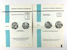 2 Vintage 1965 Ebauches Sa Neuchatel Switzerland Watch Repair Bulletin Book Q764