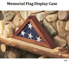 Usa American Us Folded Memorial Flag Triangle Display Case Box For Burial Casket