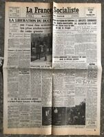 N3 La Une Du Journal La France Socialiste 14 Septembre 1943