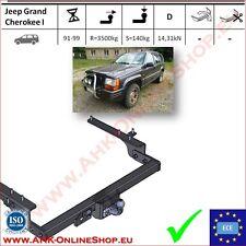 Gancio traino fisso Jeep Grand Cherokee 1991-1999 OMOLOGAZIONE   NUEVO
