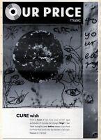 "18/4/92 Pgn25/VIII CURE : WISH ALBUM ADVERT 15X11"" FRAMED"