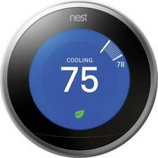 Nest Learning Thermostat, 3rd Generation(Stainless Steel)