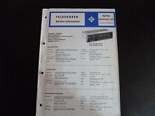 Schaltbild  Service Informationen Telefunken  digitale electronic 101