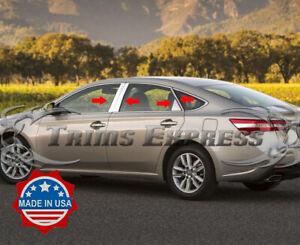 fit:2013-2018 Toyota Avalon 8Pc Chrome Pillar Post Stainless Trim Door Cover