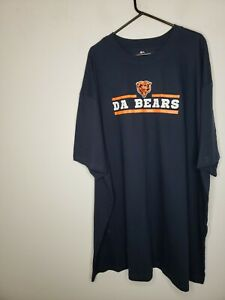 Majestic Men's Chicago Bears T Shirt 4XLT Big and Tall Fooball NFL Sports